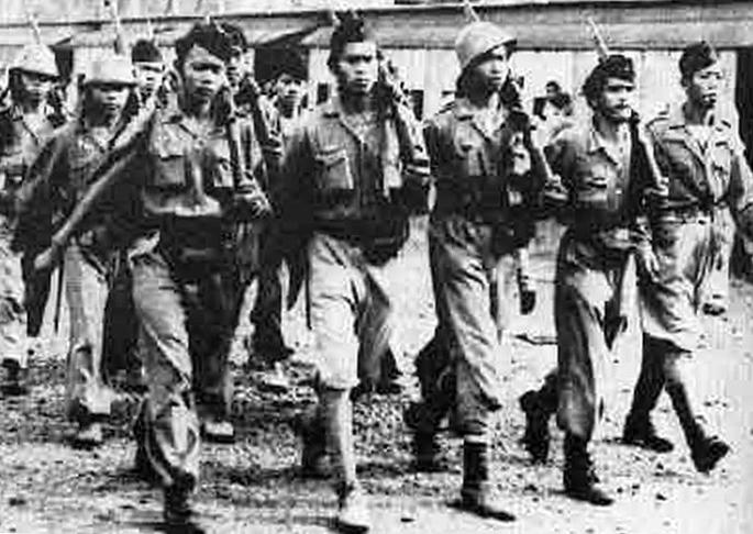 Бойцы армии Республики Индонезия