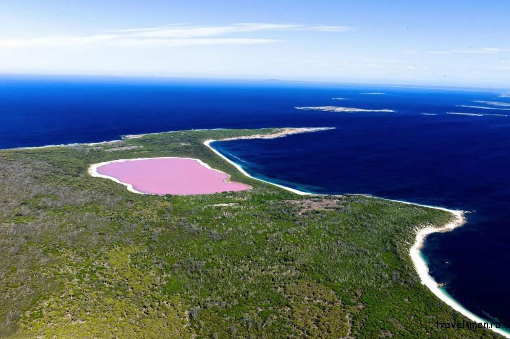 Озеро Хиллер Австралия