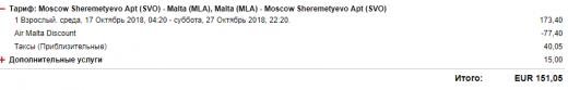 рейсы из СПб и Мск на Мальту