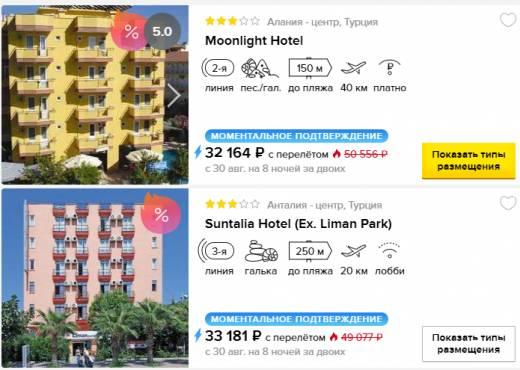 Тур Мск-Турция на 8 ночей