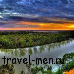 Водная карта Австралии: реки и озёра. Большая артезианская скважина