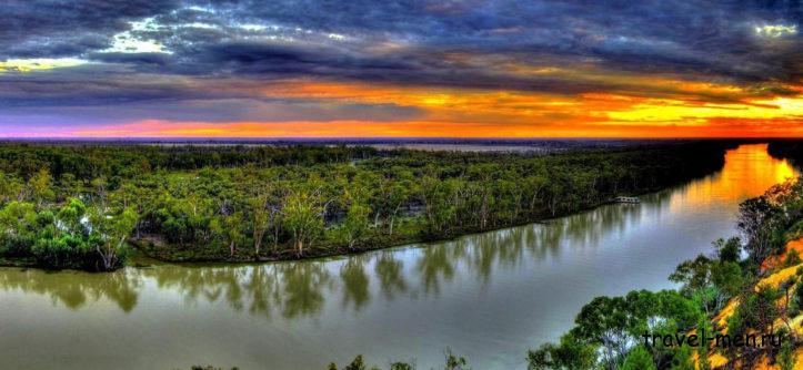 Reki I Ozyora Avstralii Vodnaya Karta Materika