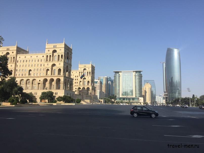 Остановка в Баку. Дом правительства Азербайджана